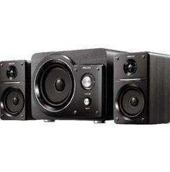 mecer 21 ch black amplified speaker wmp3 player