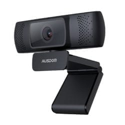 Ausdom AF640 1080p FHD Wide Angle Desktop Webcam – Black