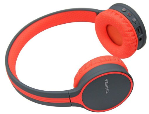 Toshiba Wireless Bluetooth Headphone With Mic Orange