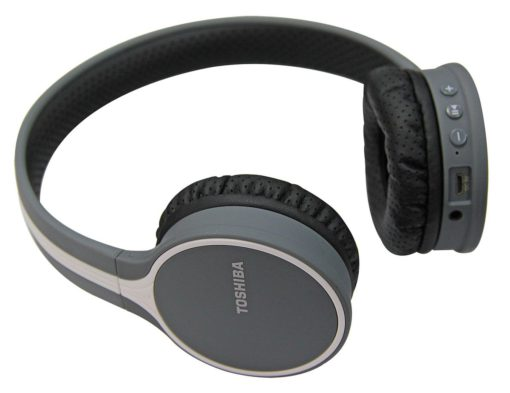 Toshiba Wireless Bluetooth Headphones with Mic – Black