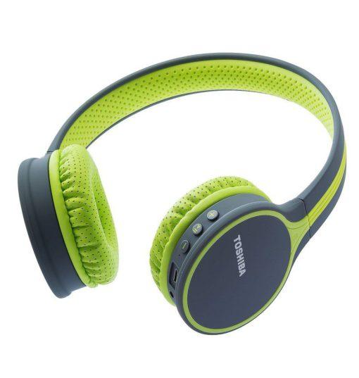 Toshiba Wireless Bluetooth Headphones with Mic Green