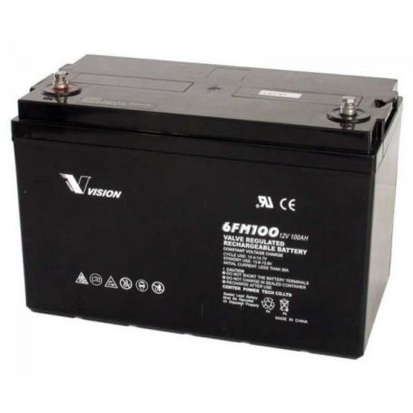 vision 100ah 12v deep cycle agm battery 6fm100z x 1