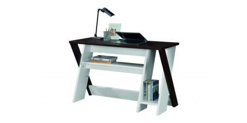 LINX Indiana Work Desk Kingston Walnut and White