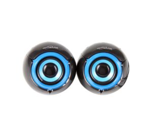 Ultra Link Premium Usb Powered 2.0 Ch Speakers Blue Black