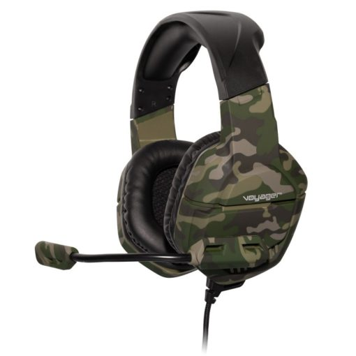 voyager gaming headphones with mic green 1